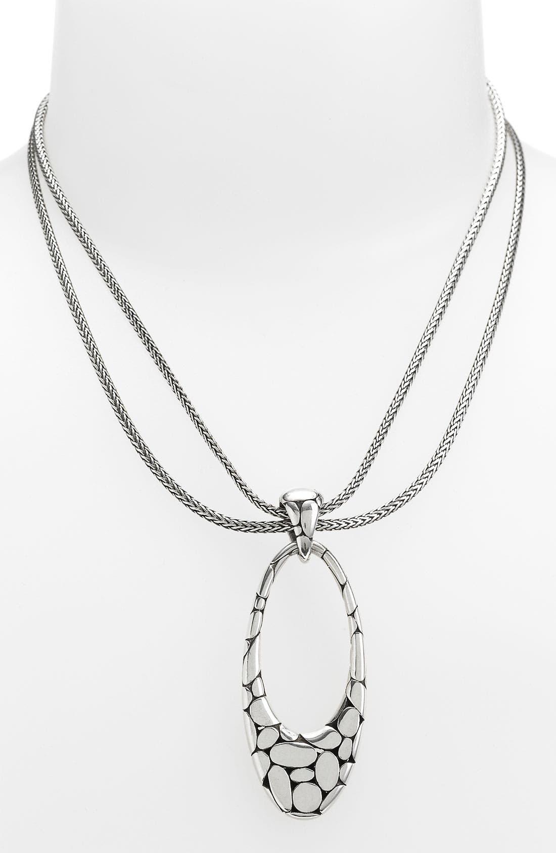 Alternate Image 1 Selected - John Hardy 'Kali' Oval Drop Necklace
