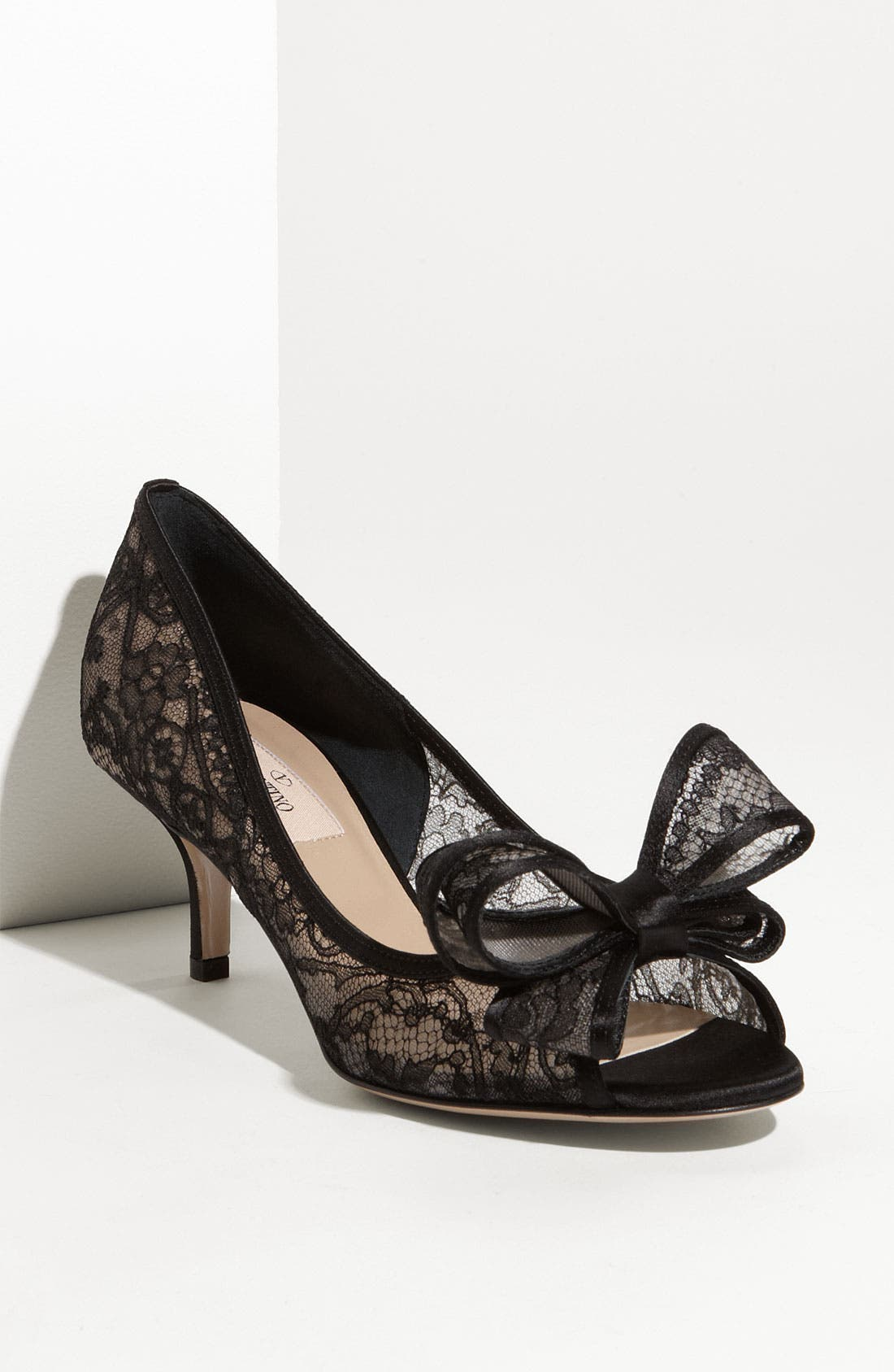 Alternate Image 1 Selected - Valentino Lace Couture Bow Pump