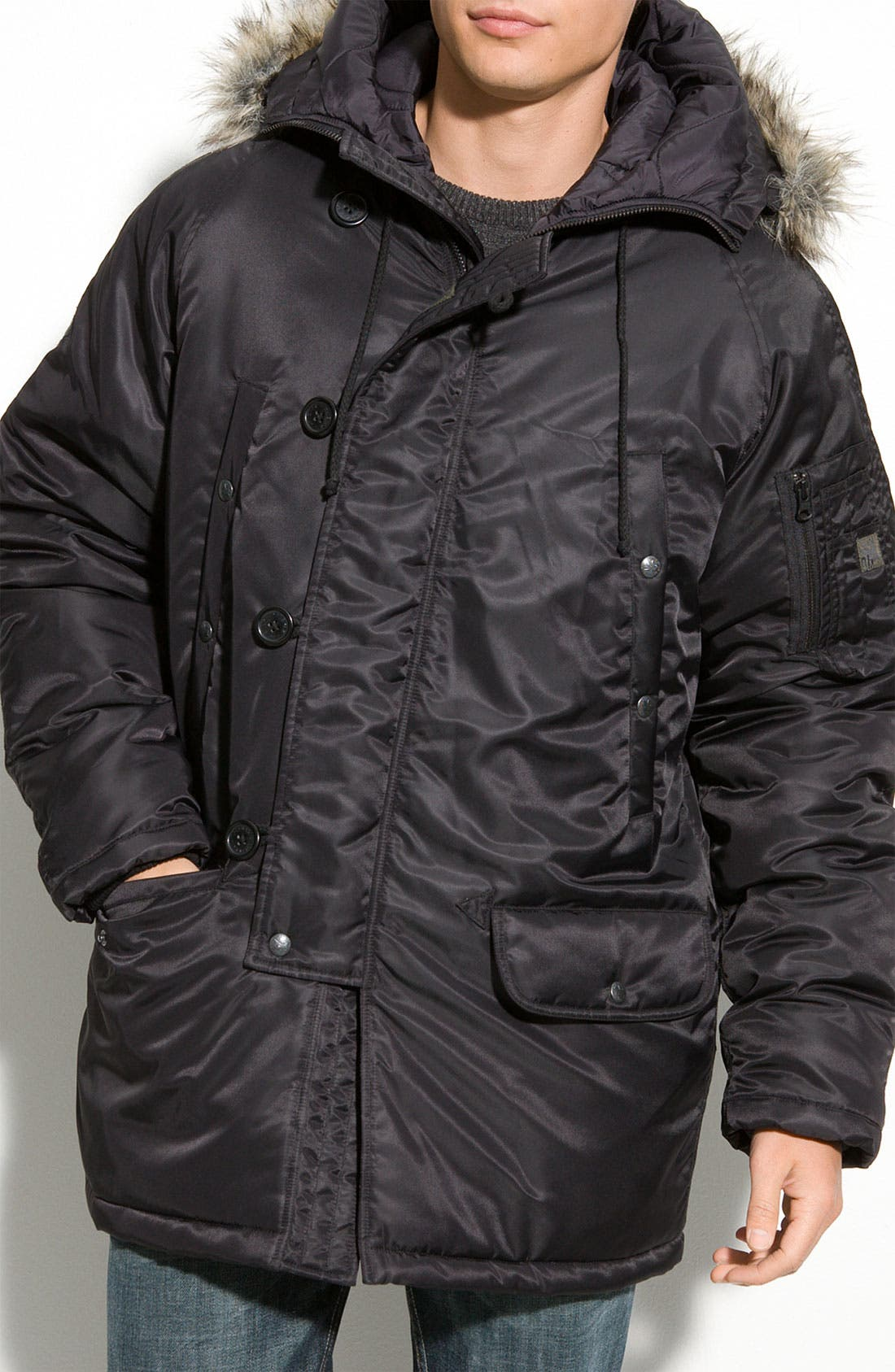 Alternate Image 1 Selected - Spiewak 'Snorkel' Parka with Removable Faux Fur