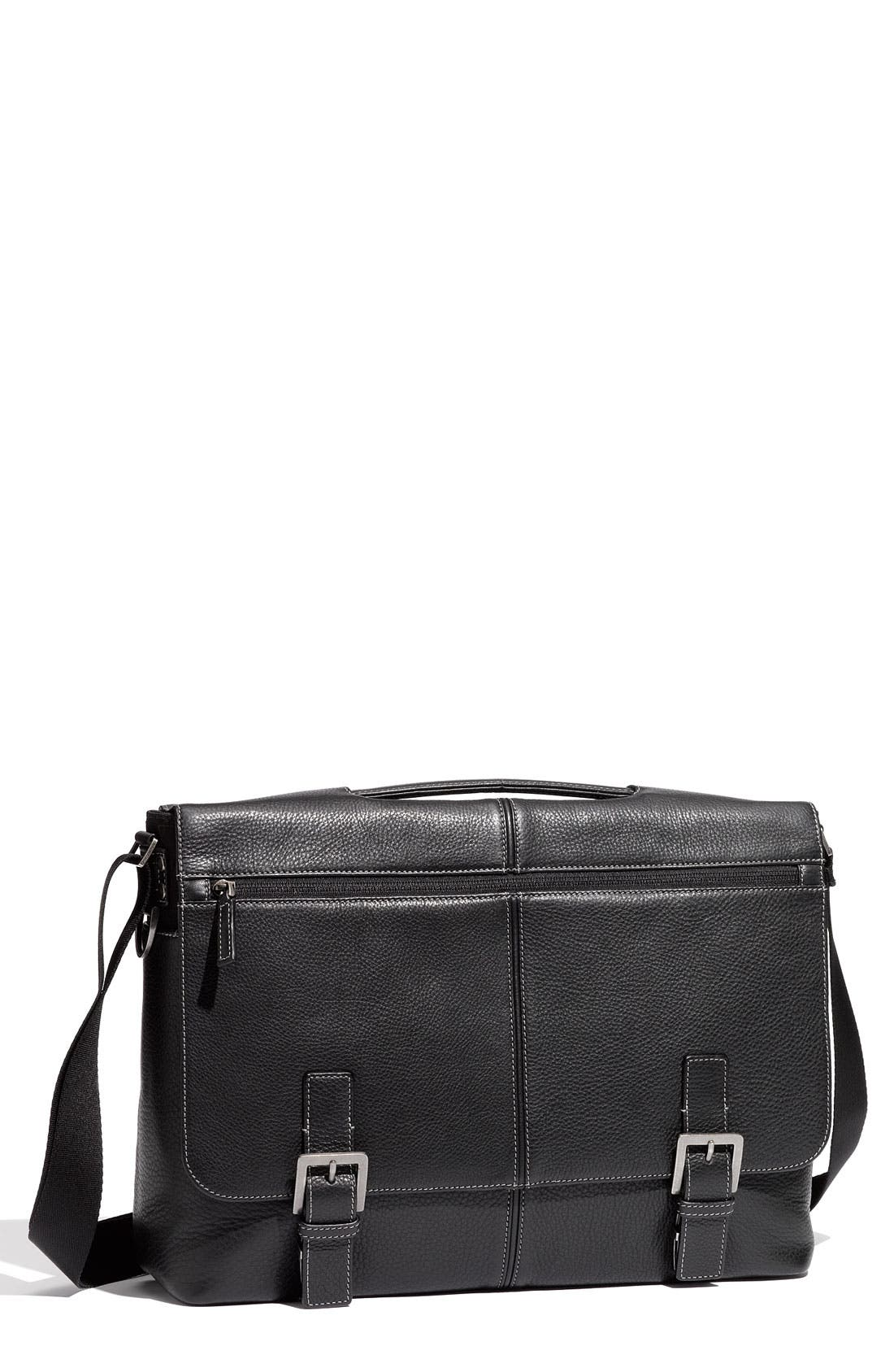 Alternate Image 1 Selected - Boconi 'Tyler' Tumbled Leather Expandable Flap Briefcase