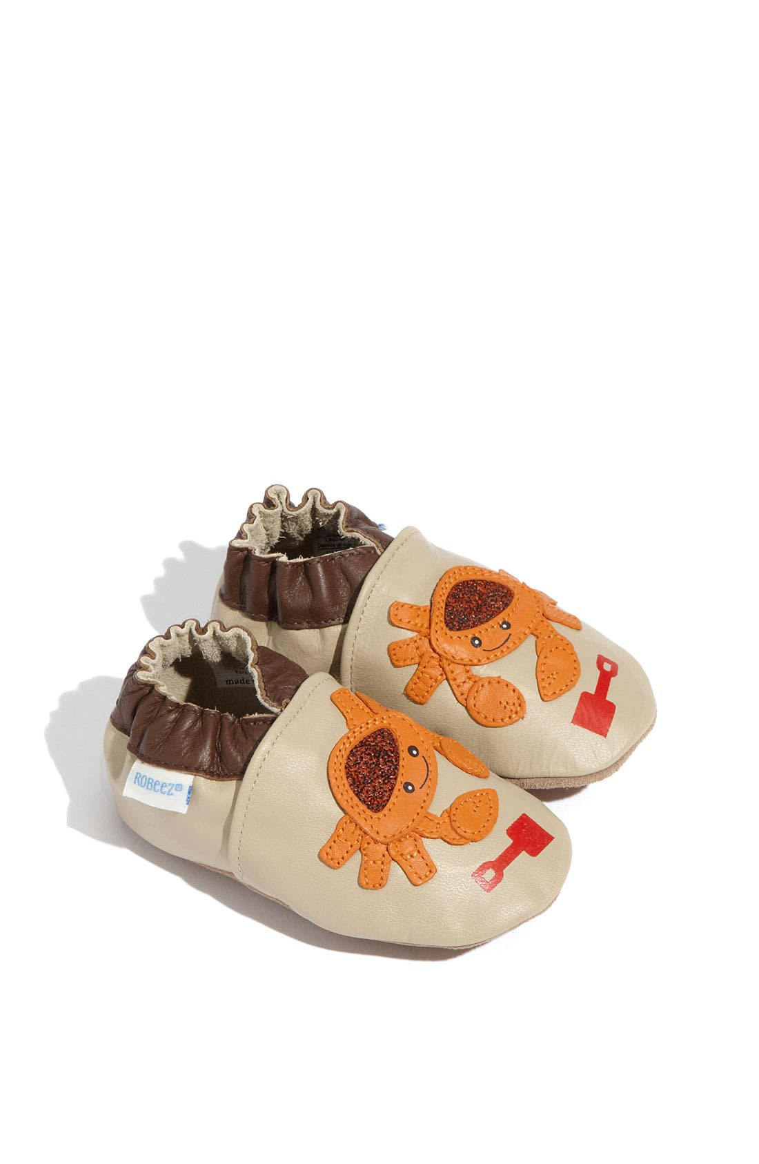 Alternate Image 1 Selected - Robeez® 'Touch & Feel Crab' Slip-On (Baby & Walker)