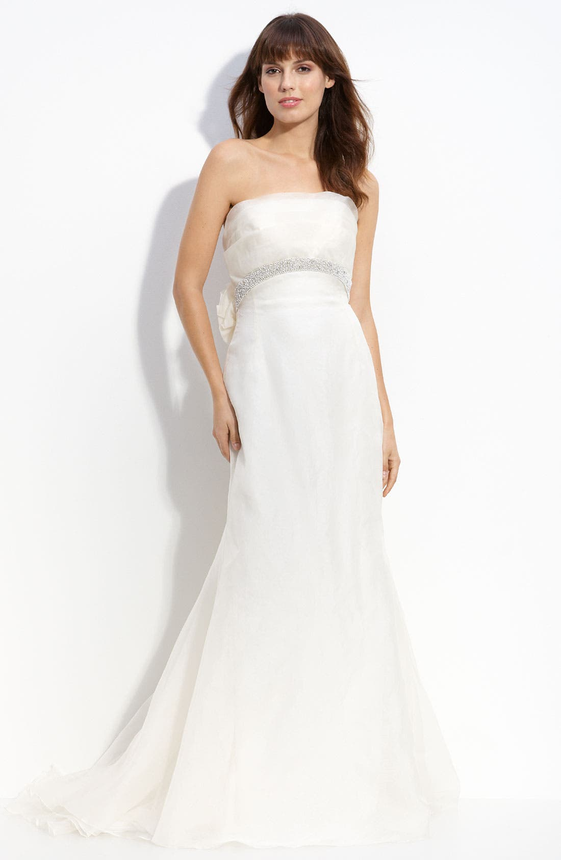Alternate Image 1 Selected - Carmen Marc Valvo 'Charlize' Organza Gown