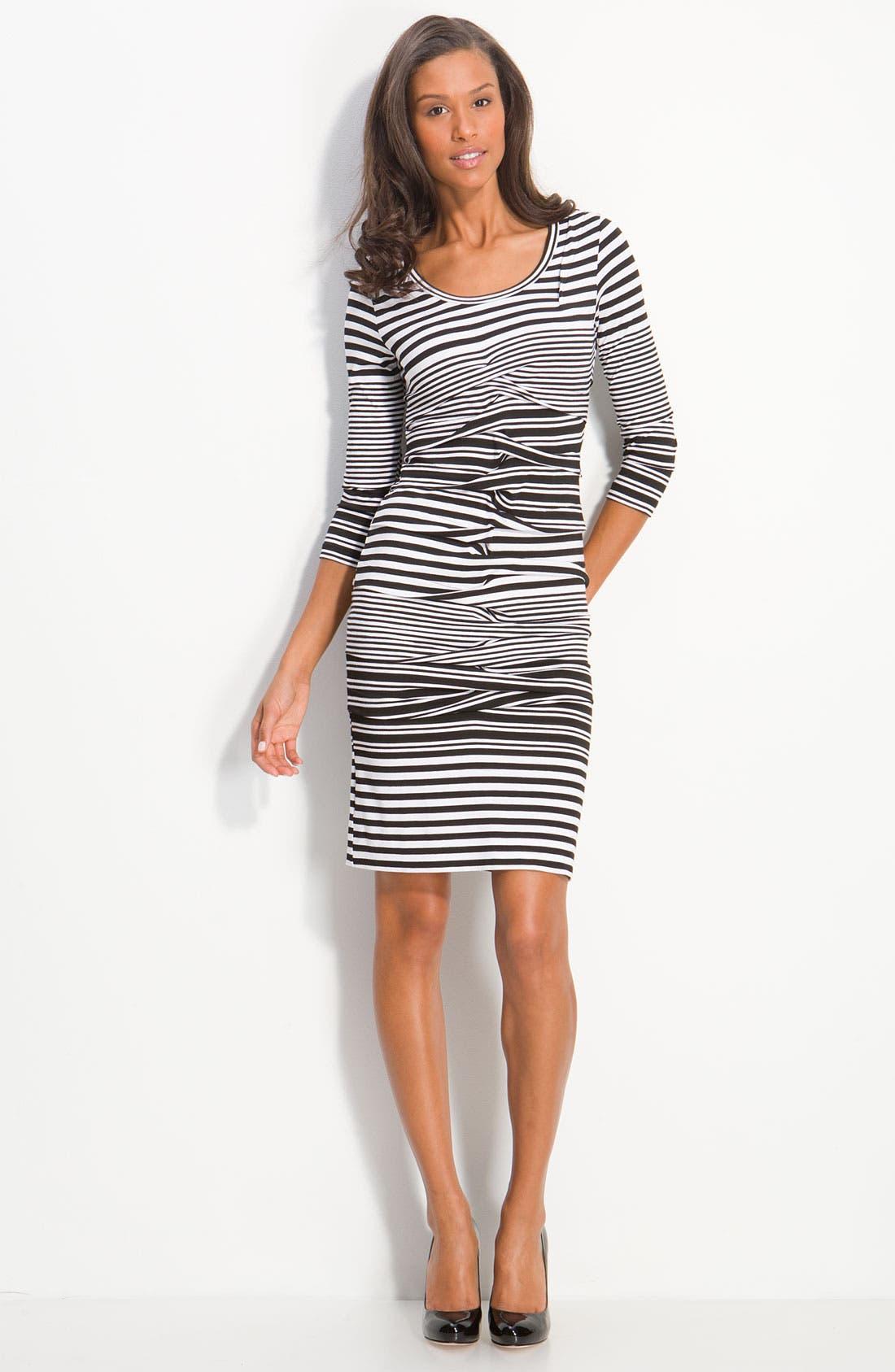 Alternate Image 3  - Nicole Miller Stripe Jersey Sheath Dress