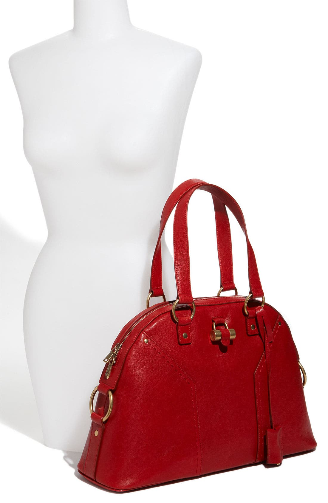 Alternate Image 2  - Yves Saint Laurent 'Muse - Large' Leather Dome Satchel