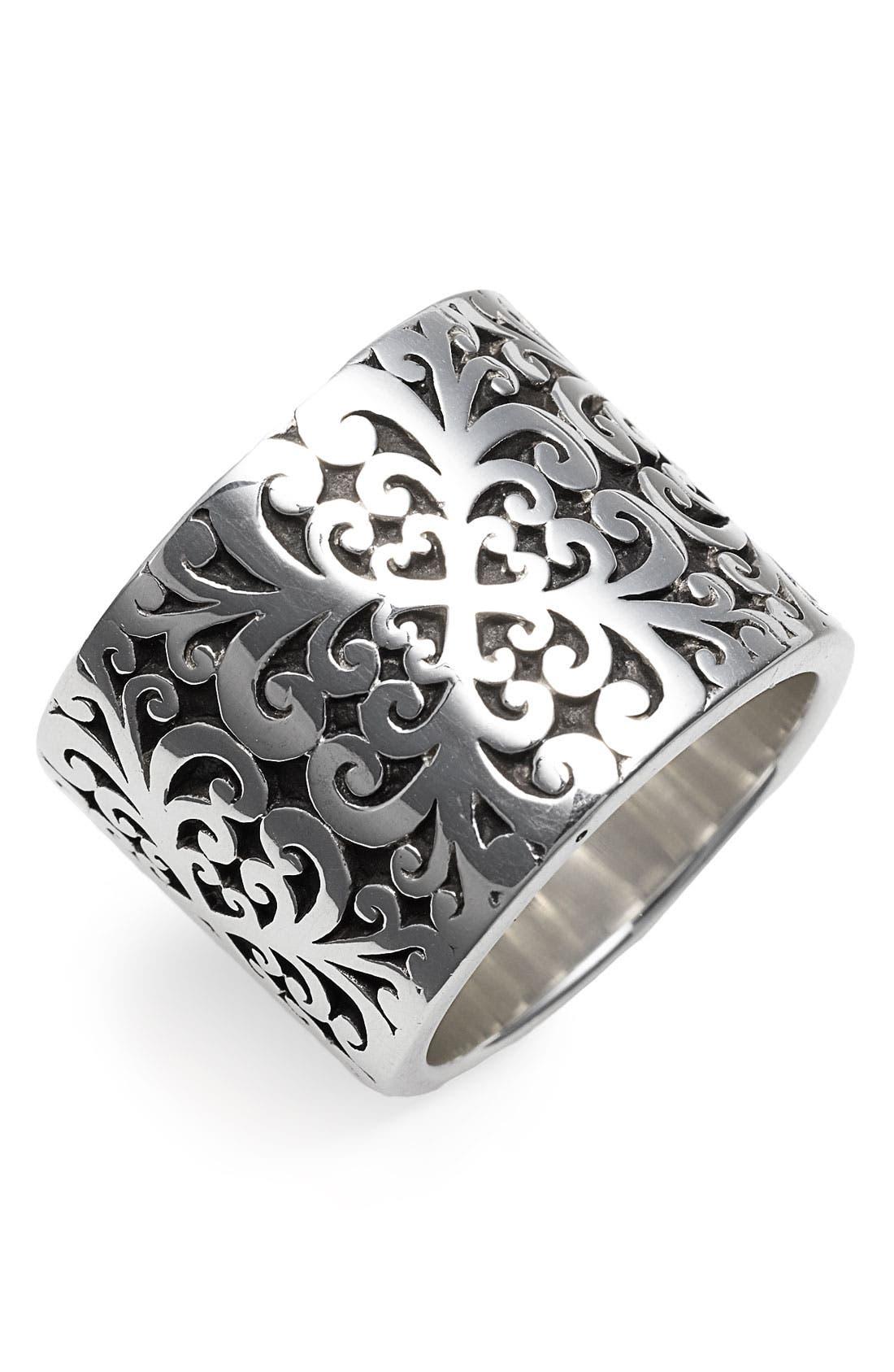 Main Image - Lois Hill 'Silver Flat Geo' Cigar Ring