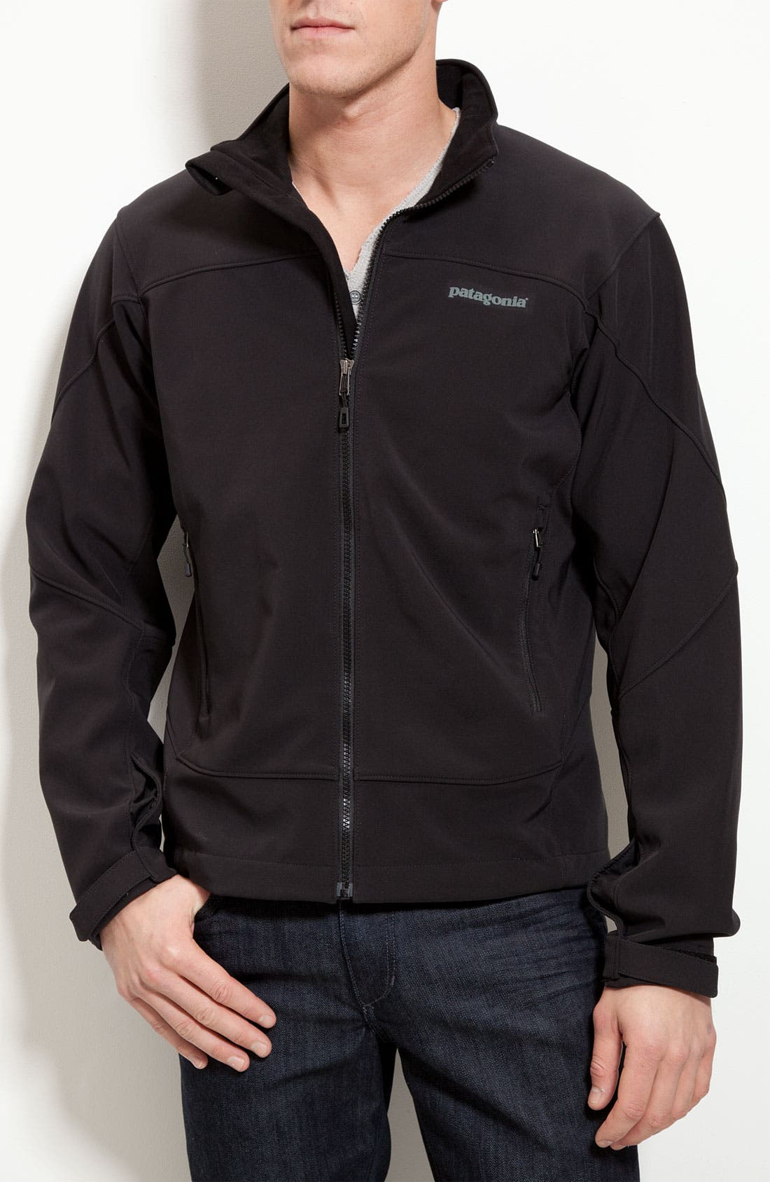 Alternate Image 1 Selected - Patagonia 'Adze' Soft Shell Zip Jacket