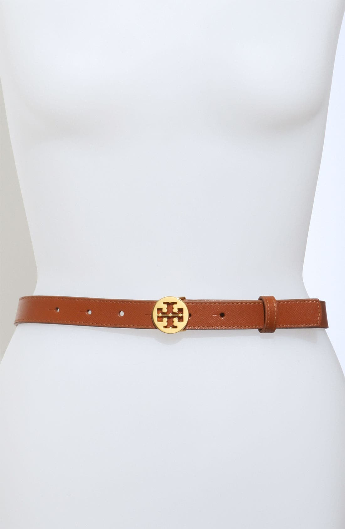 Alternate Image 1 Selected - Tory Burch 'Skinny Tory' Logo Belt