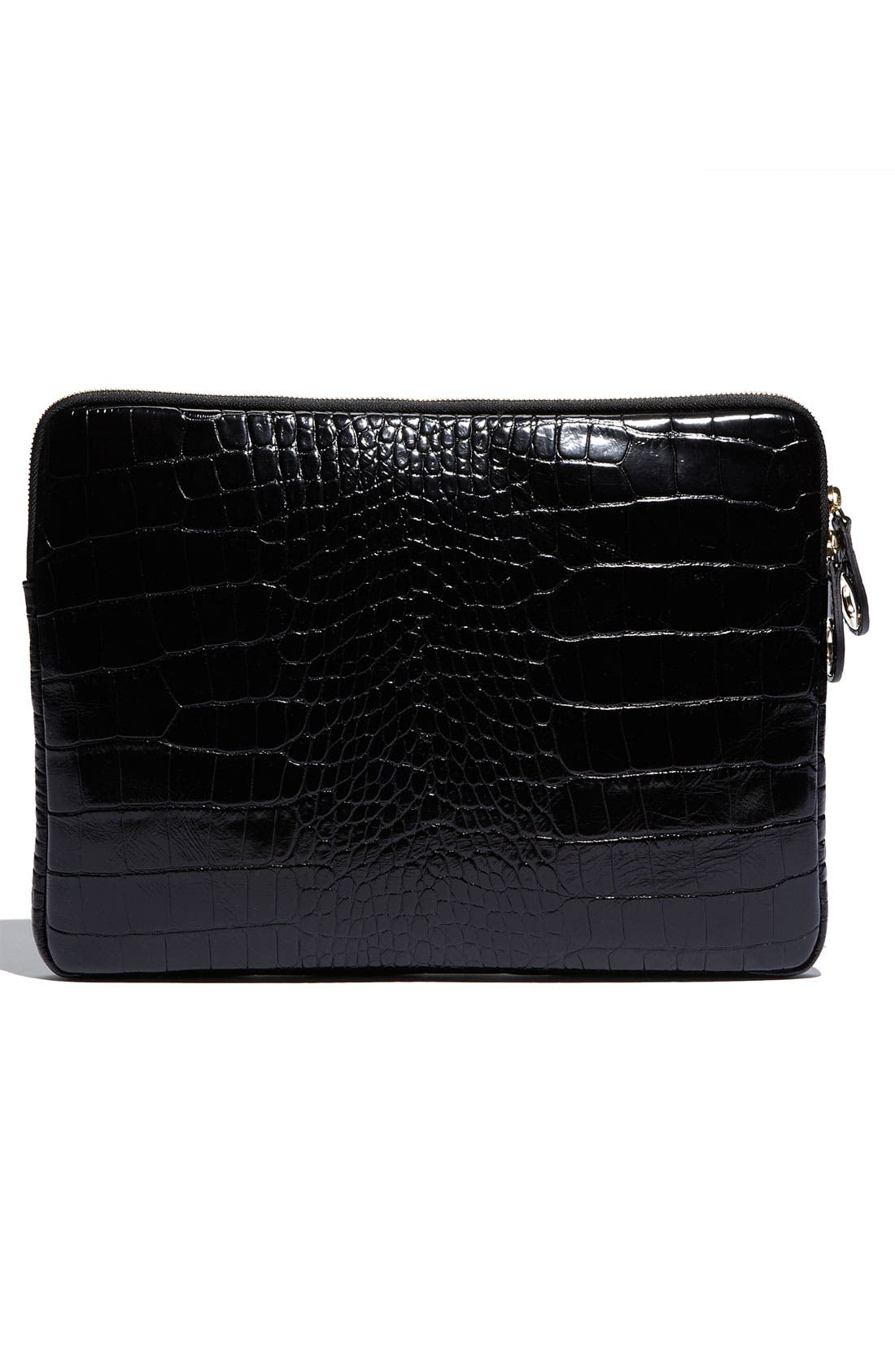 Alternate Image 4  - Jimmy Choo 'Ryan - Moc Croc' Embossed Laptop Pouch (13 Inch)