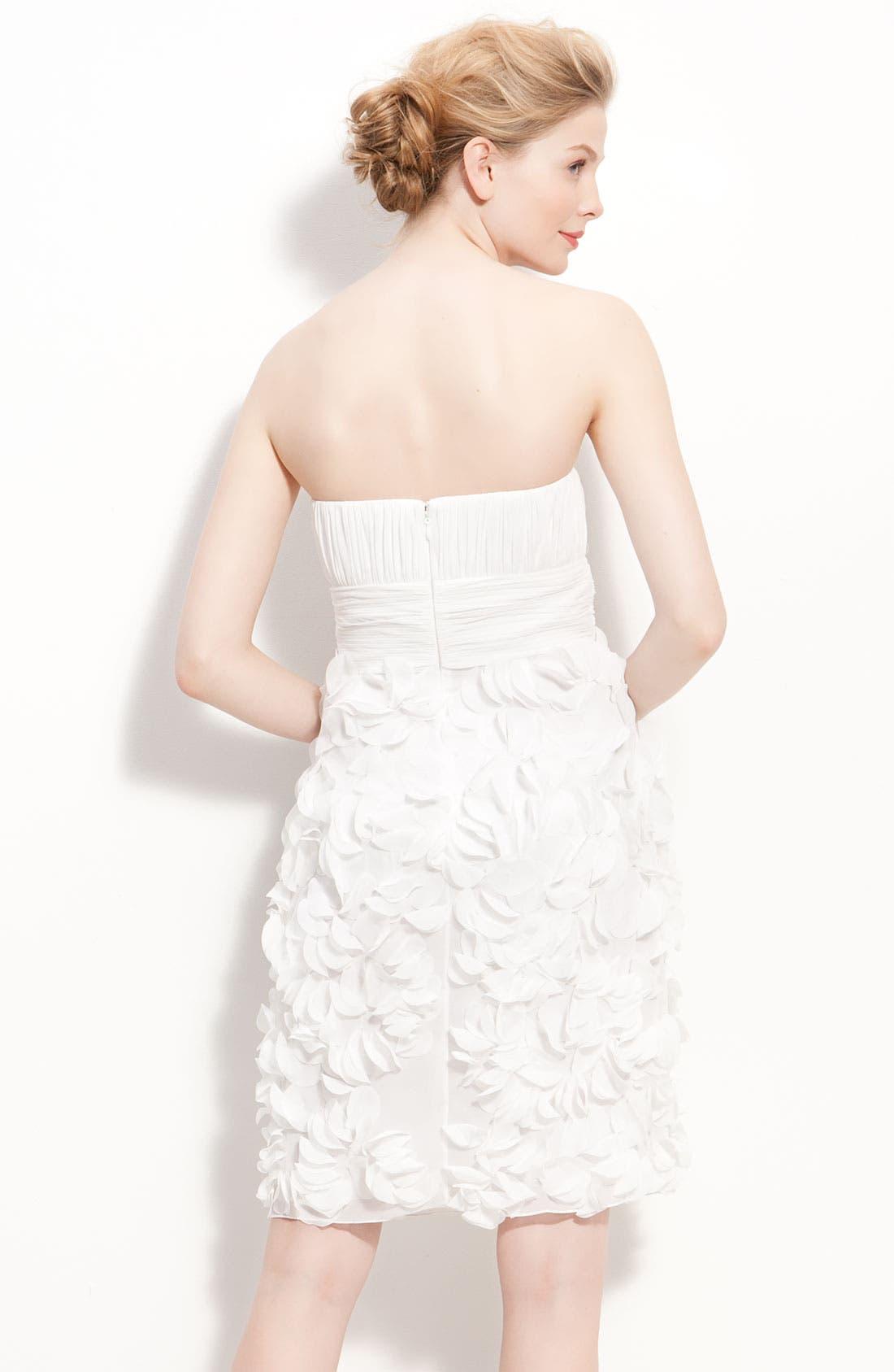 Alternate Image 2  - JS Collections Chiffon Petal Strapless Sheath Dress