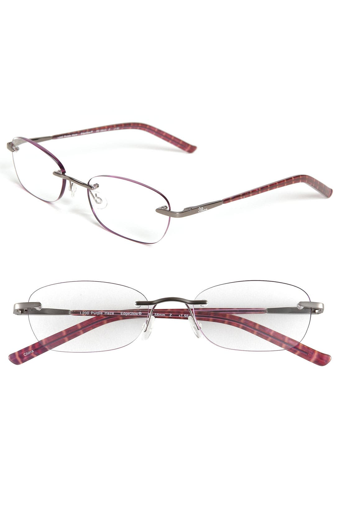Alternate Image 1 Selected - I Line Eyewear 'Purple Haze' EdgeGlow® Reading Glasses