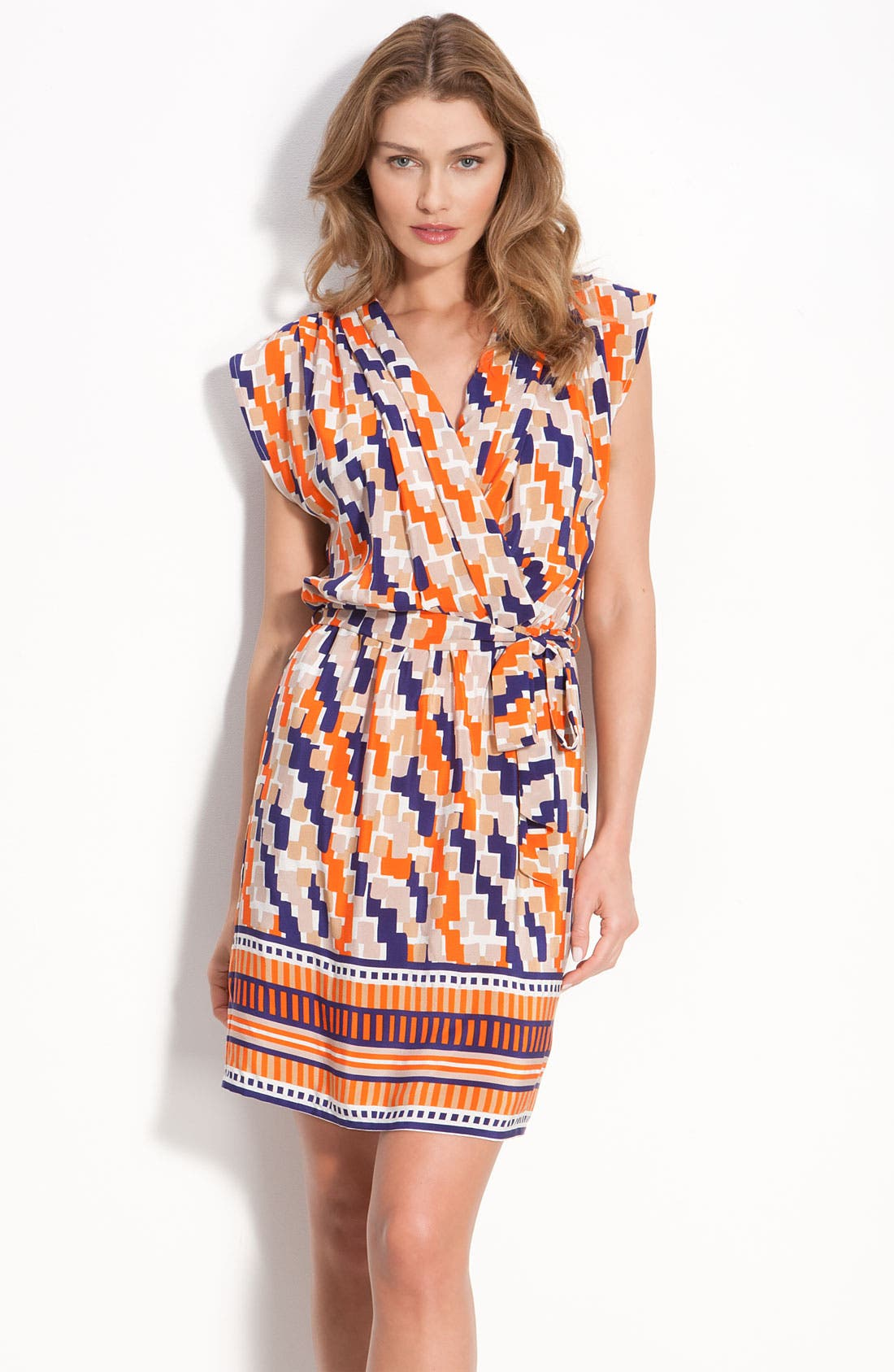 Main Image - Presley Skye 'April' Crêpe de Chine Faux Wrap Dress