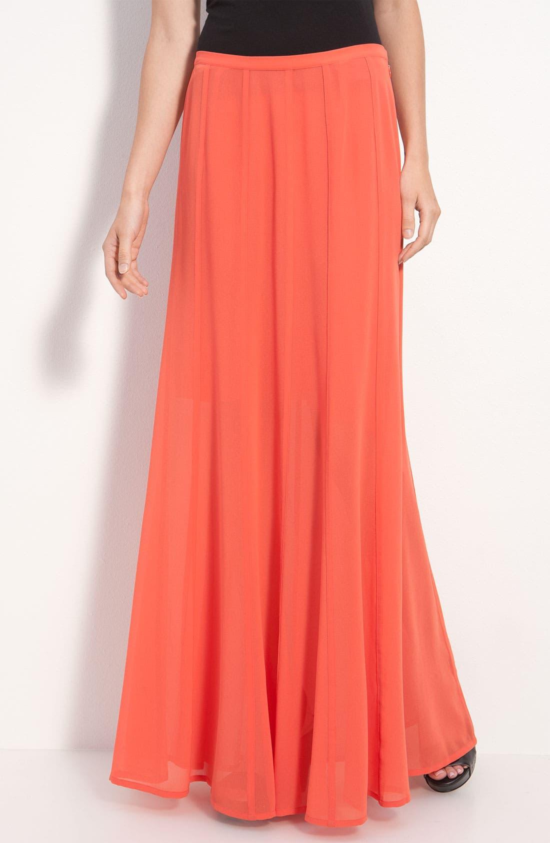 Alternate Image 1 Selected - Hinge® Sheer Chiffon Maxi Skirt