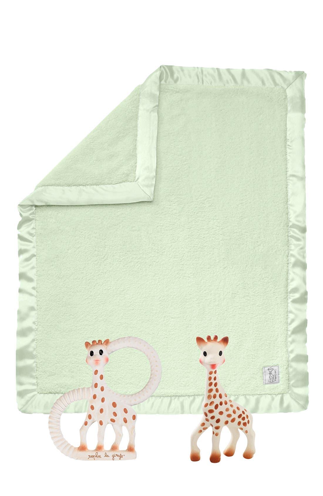 Alternate Image 1 Selected - Sophie la Girafe Teething Toy & Little Giraffe Blanket (Infant)