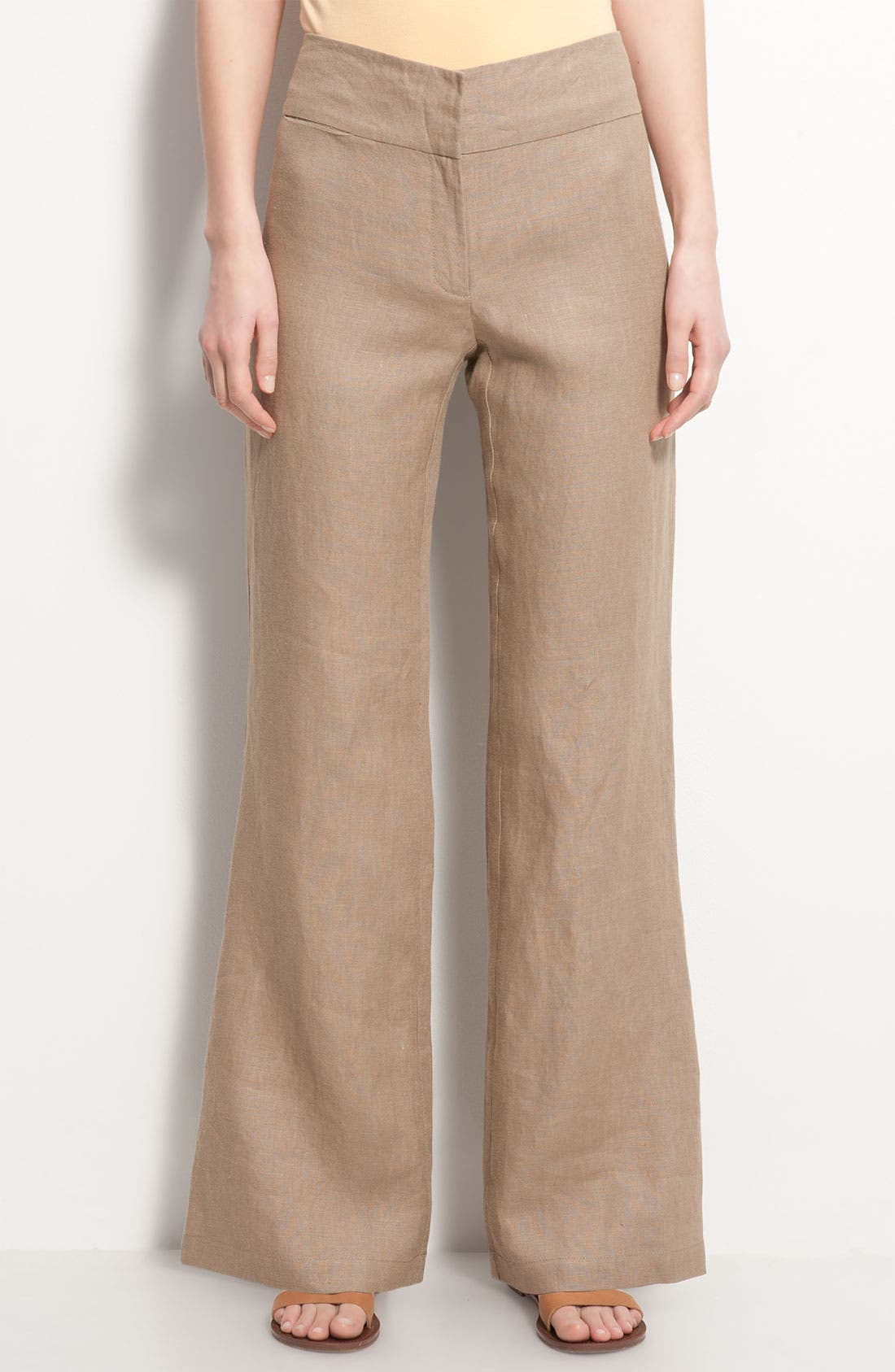 Alternate Image 1 Selected - Eileen Fisher Wide Leg Linen Trousers
