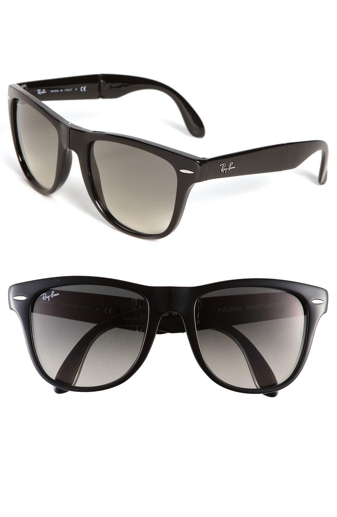 Alternate Image 1 Selected - Ray-Ban 'Folding Wayfarer' 54mm Sunglasses