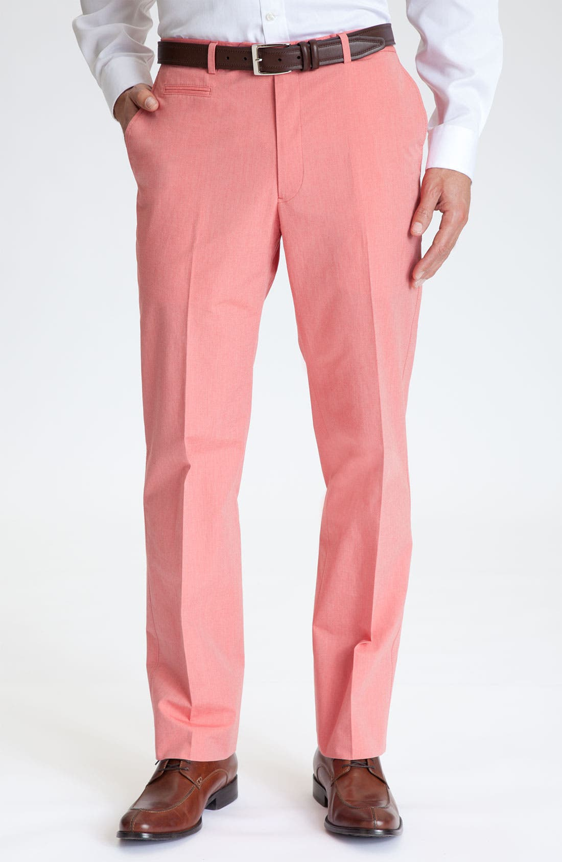 Main Image - Hart Schaffner Marx Flat Front Trousers