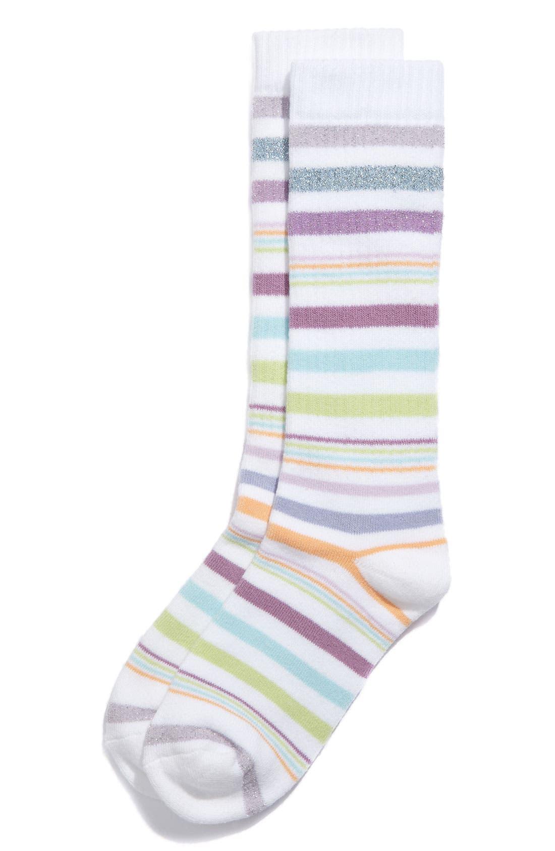 Main Image - Nordstrom 'Sporty Stripe' Knee High Socks (Toddler, Little Girls & Big Girls)