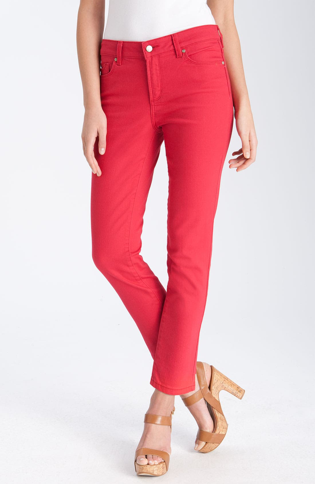 Alternate Image 1 Selected - NYDJ 'Alisha' Skinny Stretch Jeans (Petite)