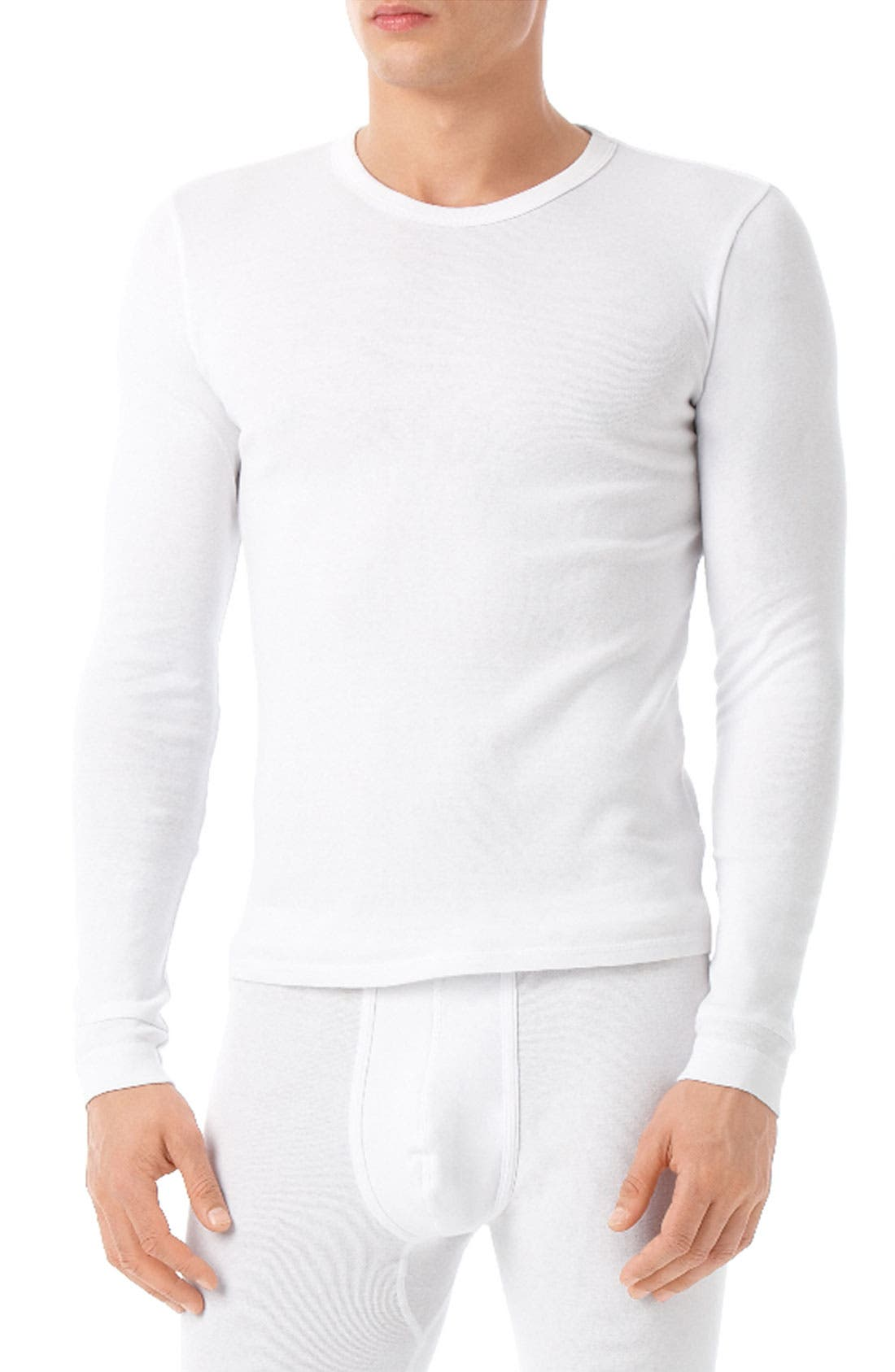 Alternate Image 1 Selected - Calvin Klein Fitted Long Sleeve Crewneck Shirt
