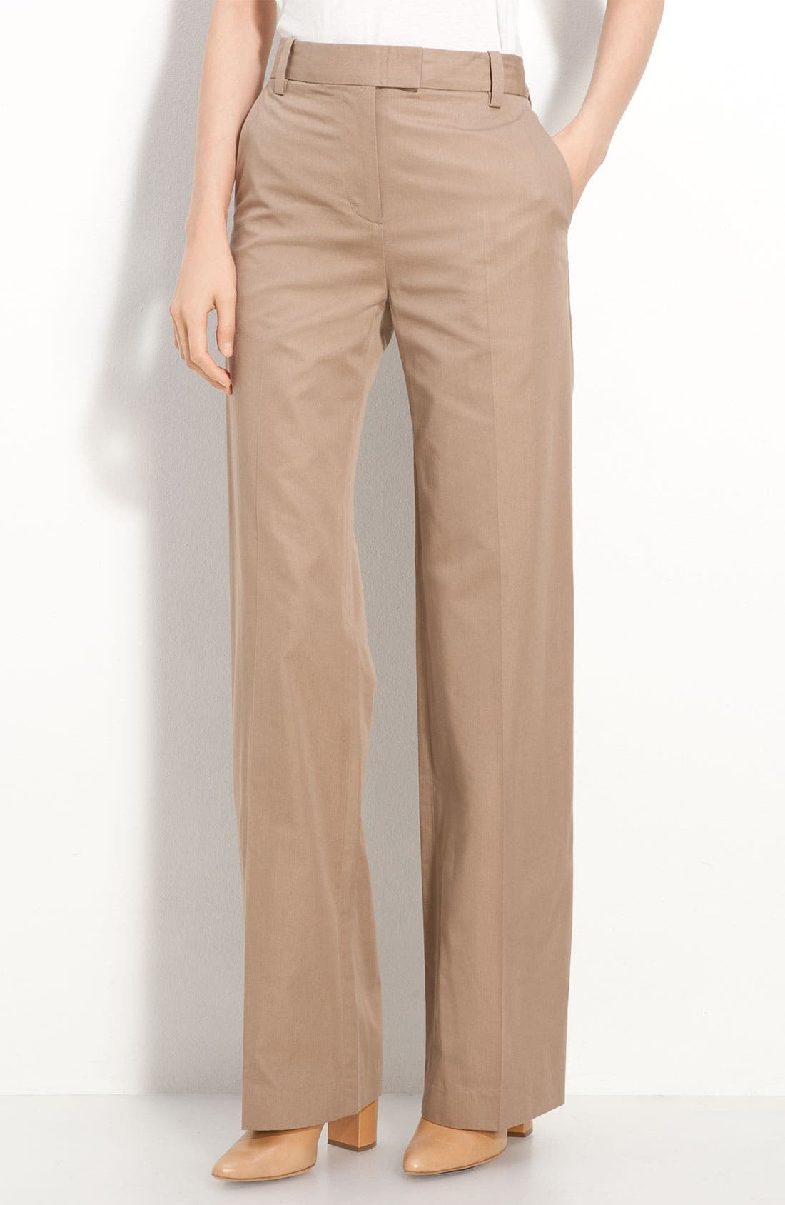 Alternate Image 1 Selected - 3.1 Phillip Lim Wide Leg Micro Twill Trousers