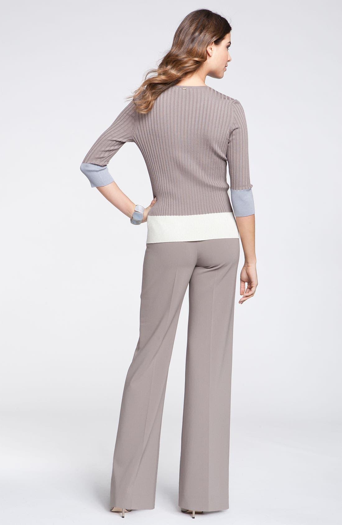 Alternate Image 4  - St. John Yellow Label Colorblock Rib Knit Sweater