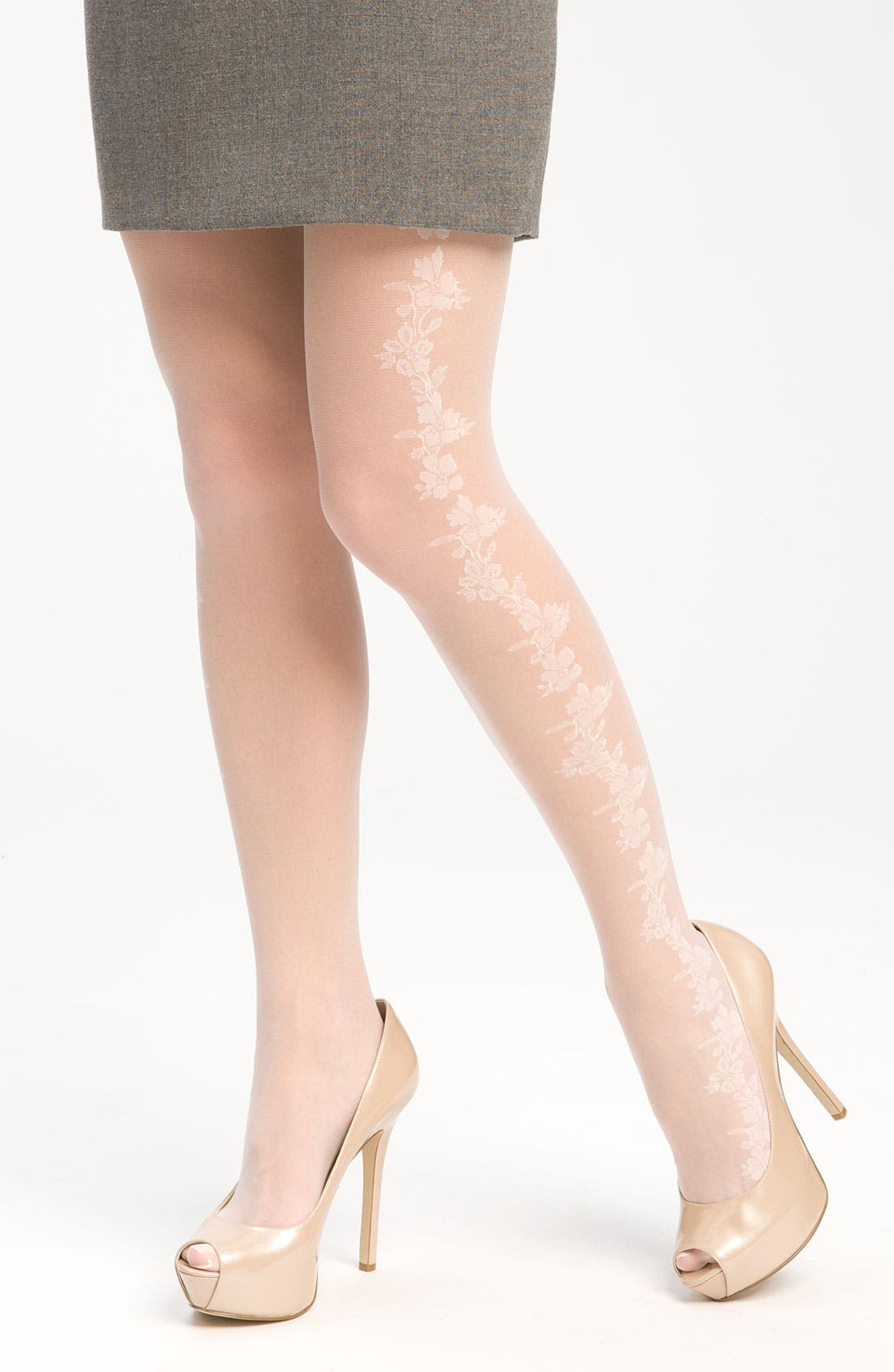 Alternate Image 1 Selected - Nordstrom 'Pretty' Floral Pattern Stockings
