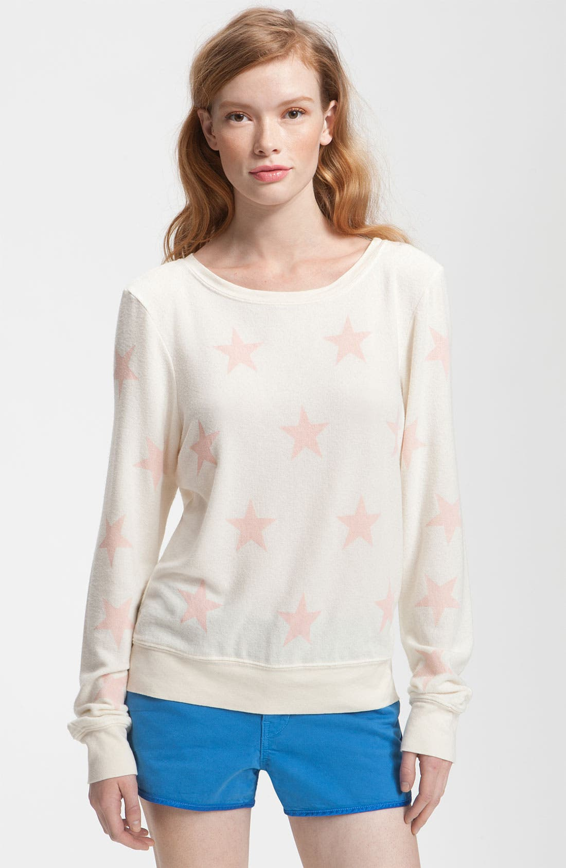 Alternate Image 1 Selected - Wildfox 'Seeing Stars' Print Sweatshirt