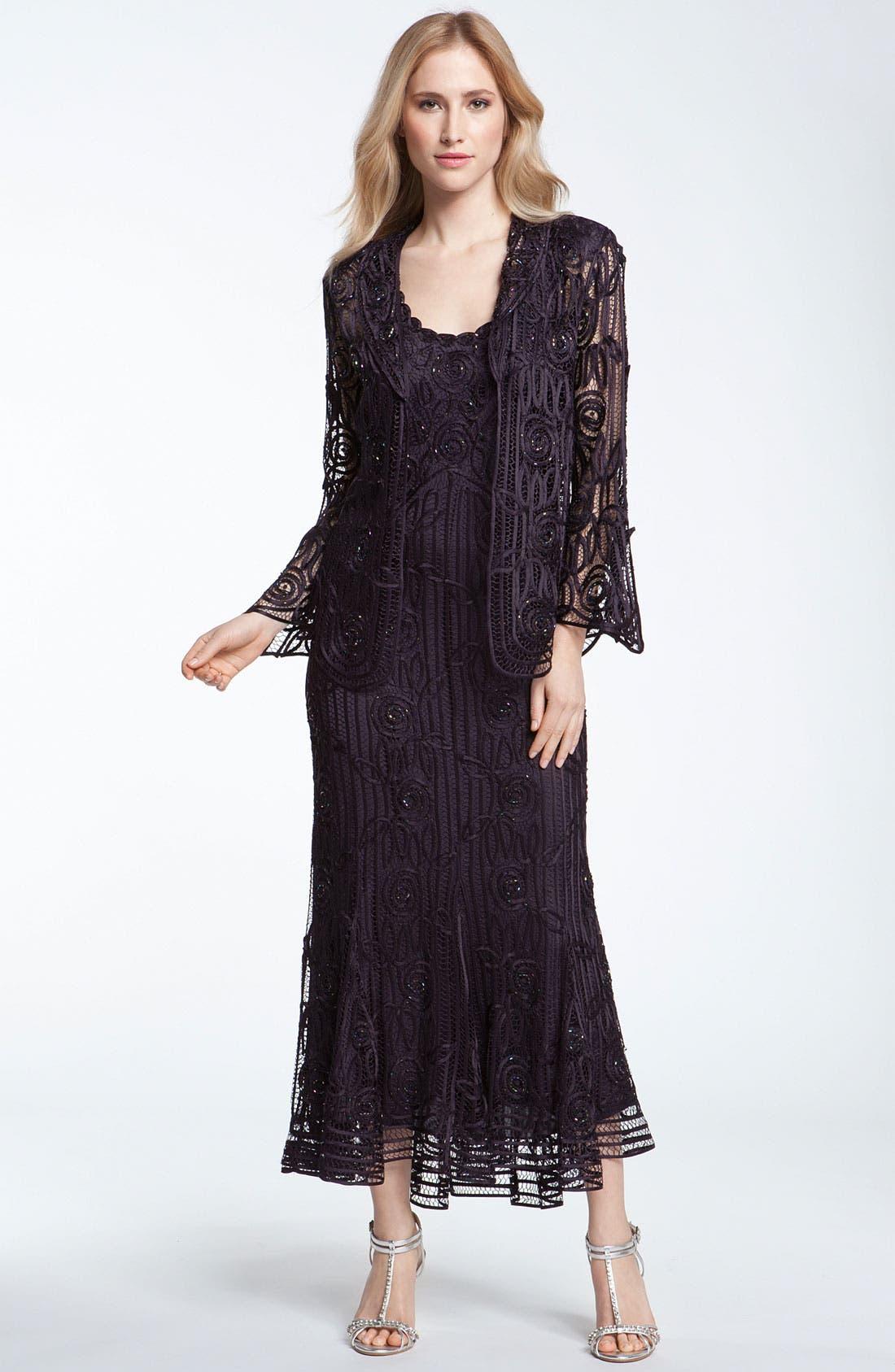 Main Image - Soulmates Bead Crochet Dress & Jacket