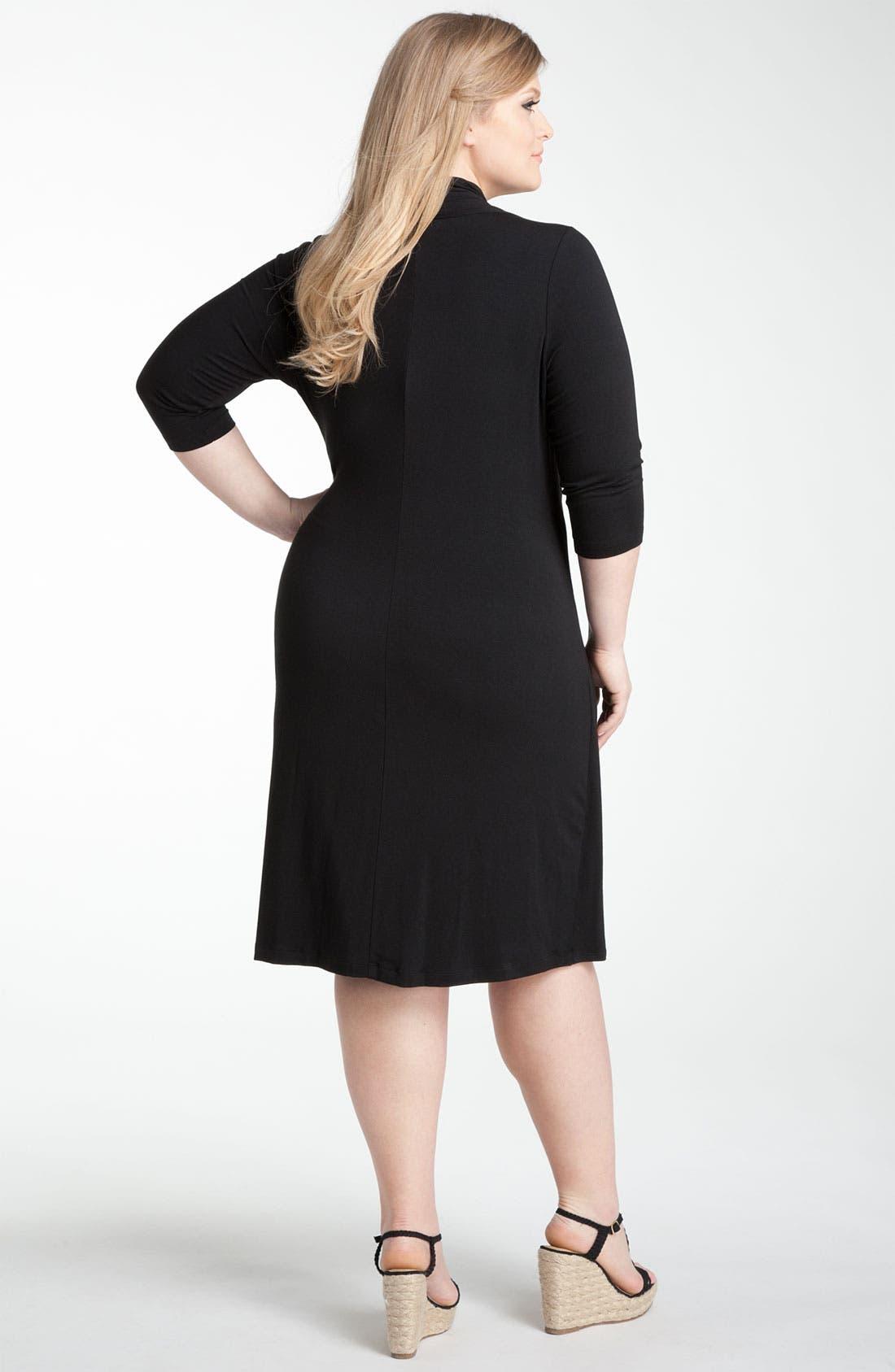 Alternate Image 2  - Karen Kane 'Cascade' Faux Wrap Dress (Plus)