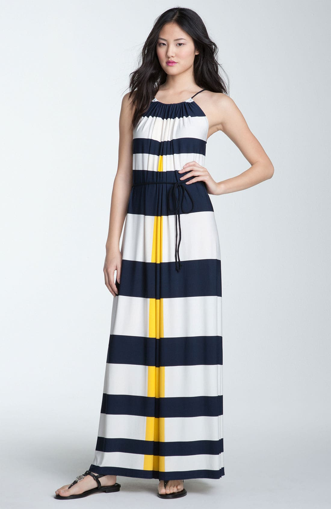 Alternate Image 1 Selected - Maggy London Nautical Stripe Maxi Dress