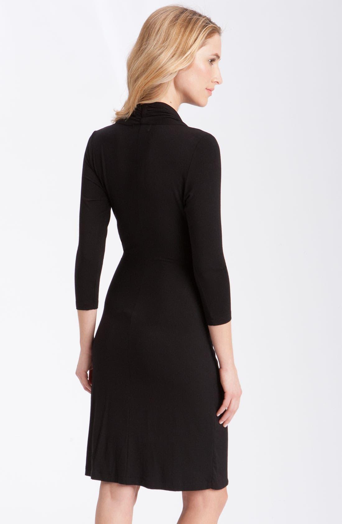 Alternate Image 4  - Karen Kane Cascade Faux Wrap Dress (Regular & Petite)