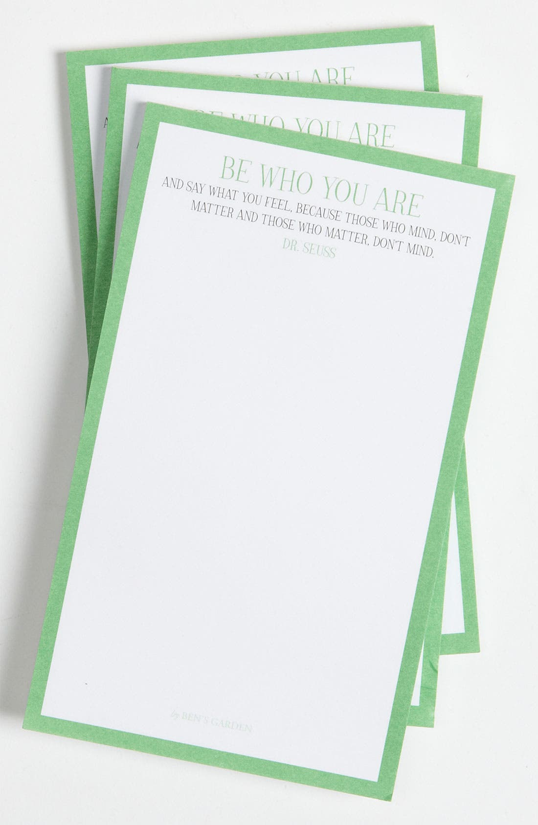 Alternate Image 1 Selected - Ben's Garden 'Be Who You Are' Notepads (3-Pack)