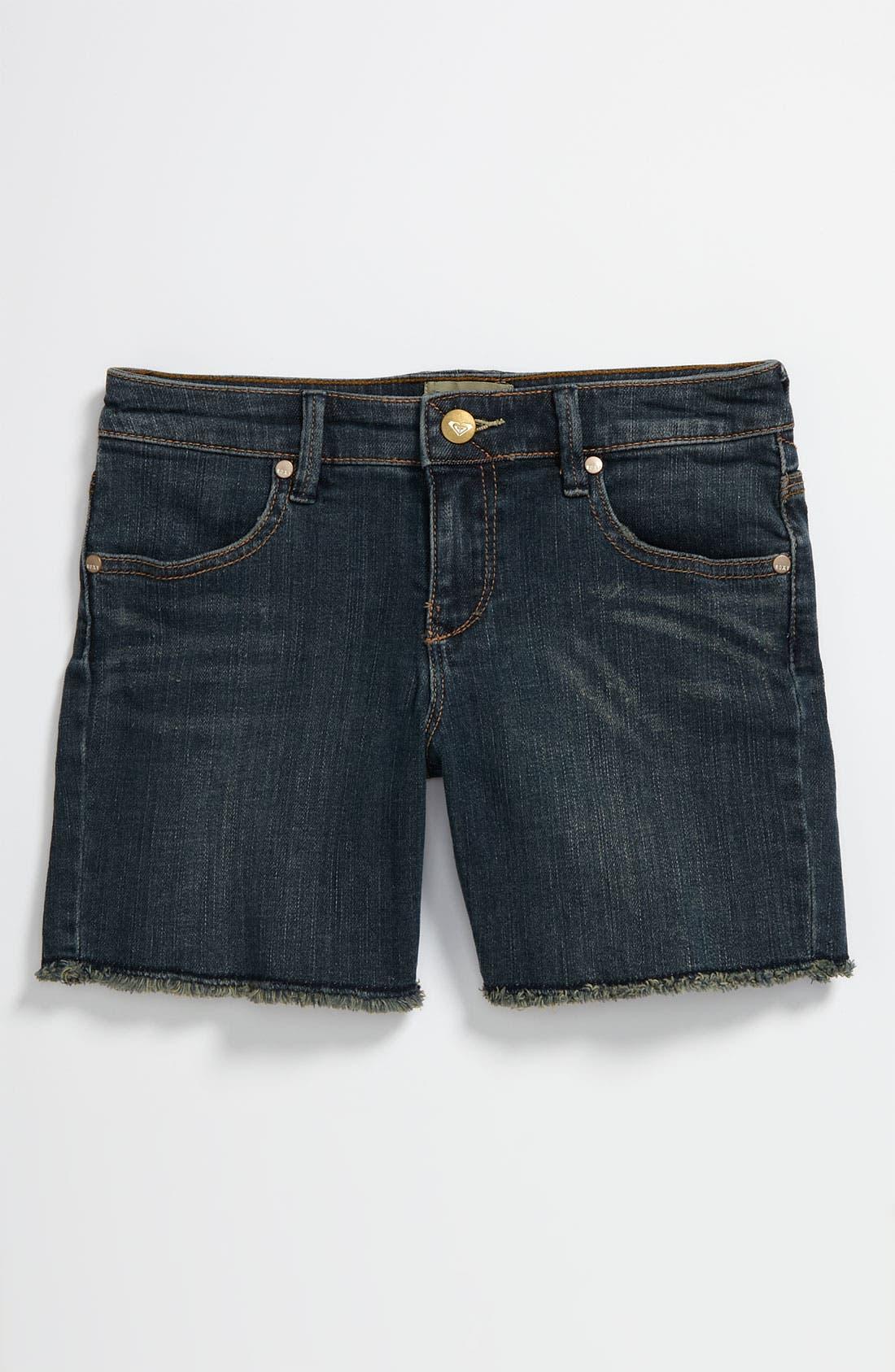 Alternate Image 2  - Roxy Denim Shorts (Big Girls)