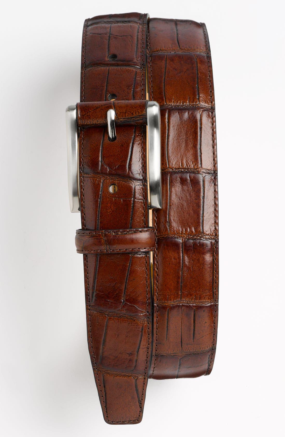 Alternate Image 1 Selected - Trafalgar 'Cambridge' Leather Belt