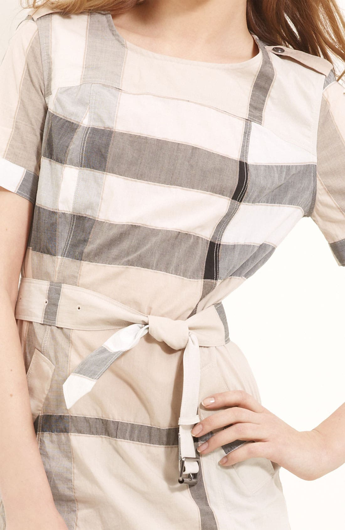 Alternate Image 3  - Burberry Brit Belted Check Pattern Dress