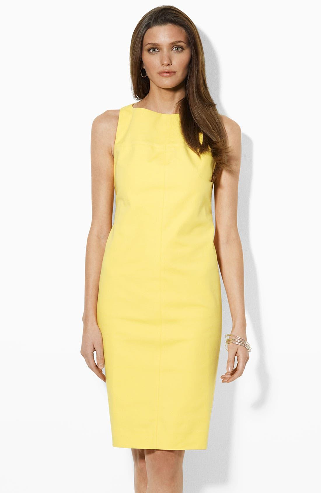 Main Image - Lauren by Ralph Lauren Sleeveless Sheath Dress