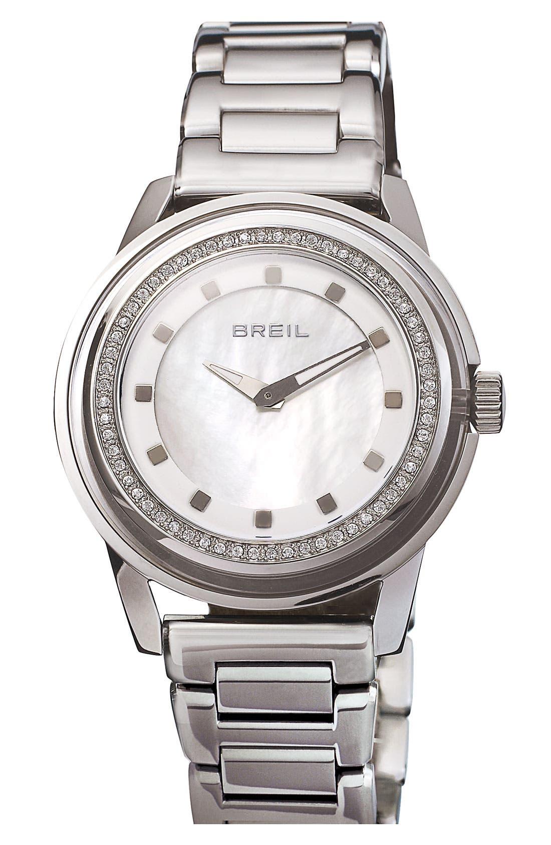 Main Image - Breil 'Orchestra' Crystal Bezel & Index Bracelet Watch, 40mm