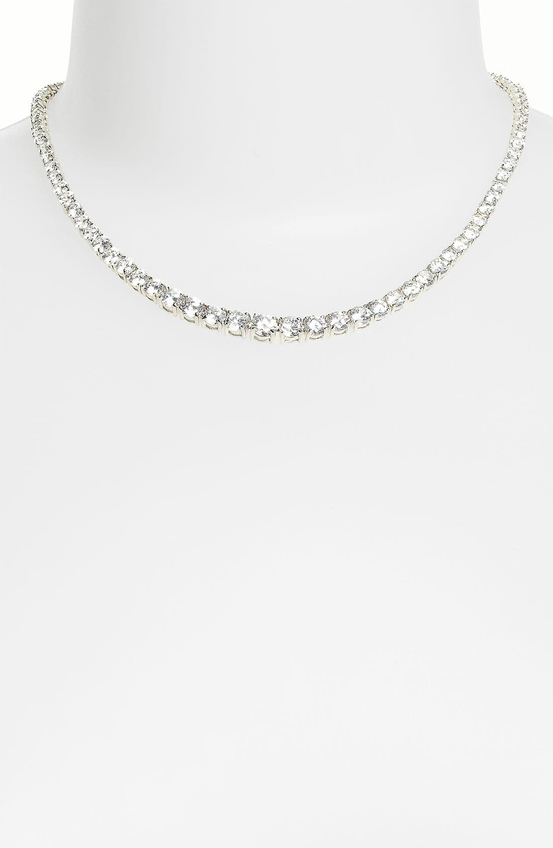 Alternate Image 1 Selected - CZ by Kenneth Jay Lane Cushion Cut Necklace