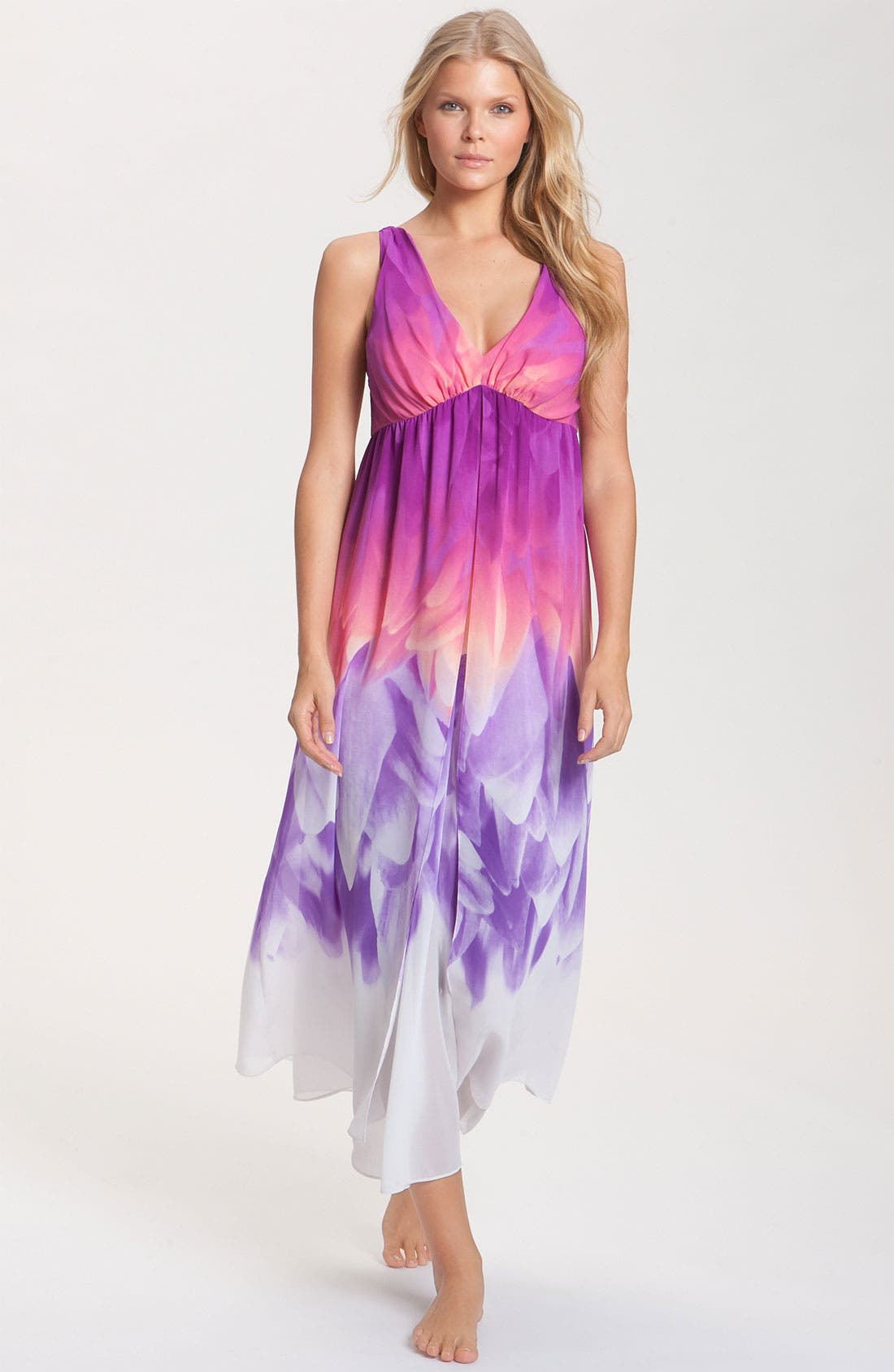 Main Image - Natori 'Sapa' Layered Nightgown