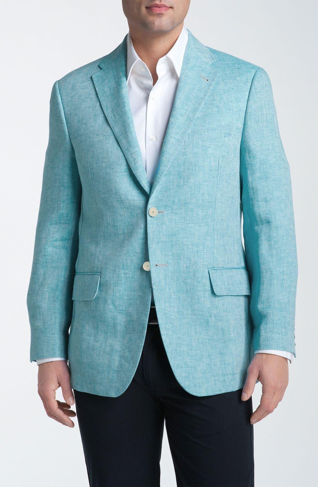 Main Image - Joseph Abboud Herringbone Linen Sportcoat