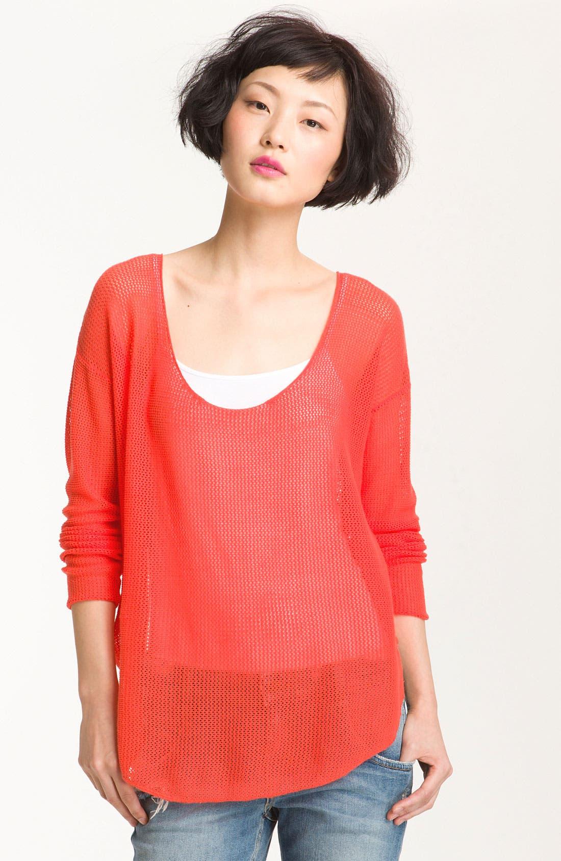 Main Image - Soft Joie 'Nia' Sheer Oversized Mesh Top
