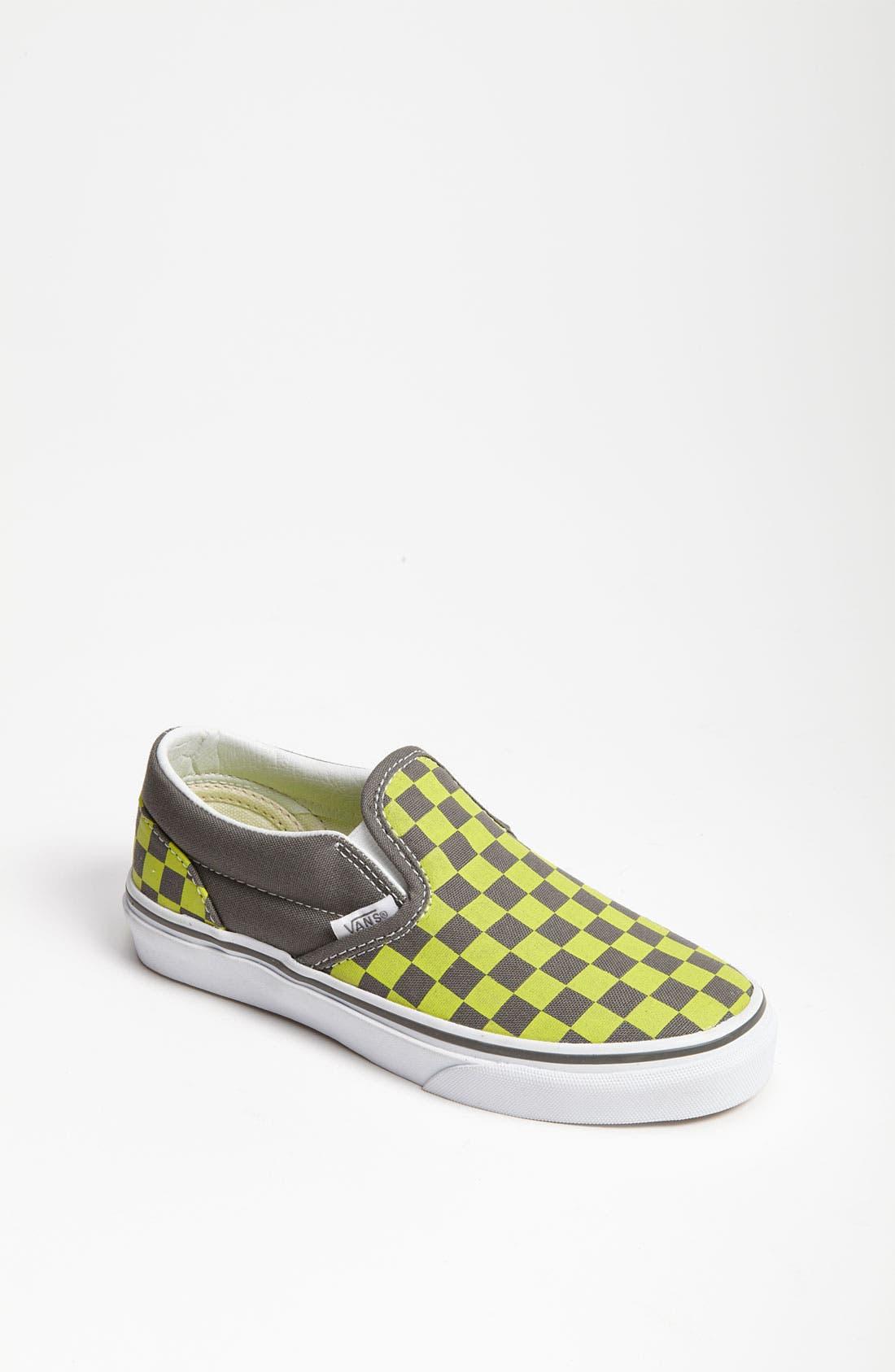 Main Image - Vans 'Checker' Classic Slip-On (Walker, Toddler, Little Kid & Big Kid)