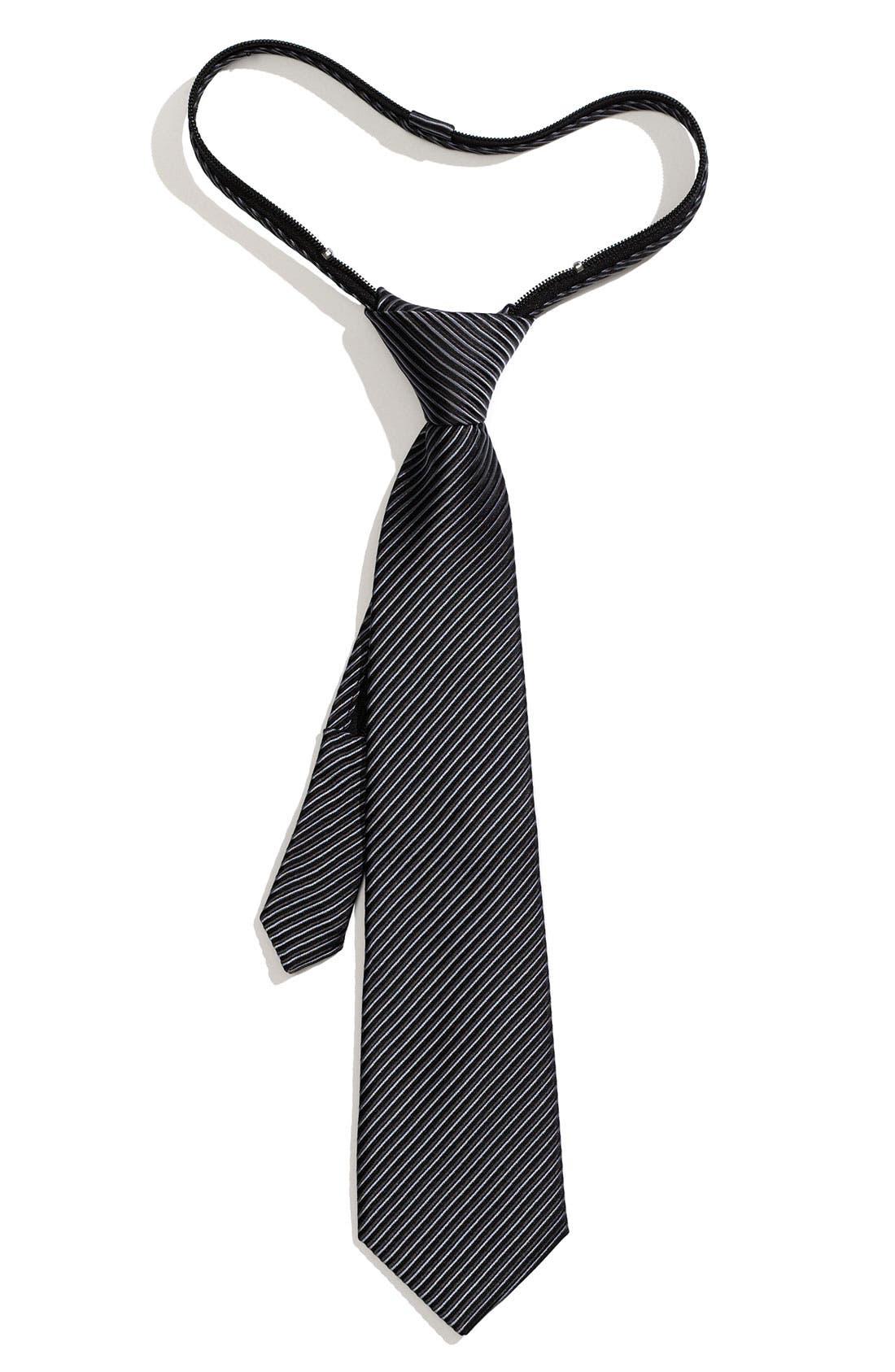 Main Image - Nordstrom Stripe Zipper Tie (Toddler)