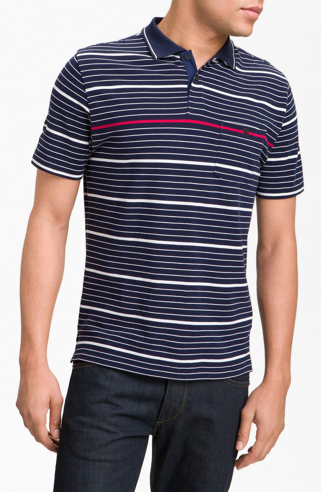 Main Image - rag & bone Stripe Polo