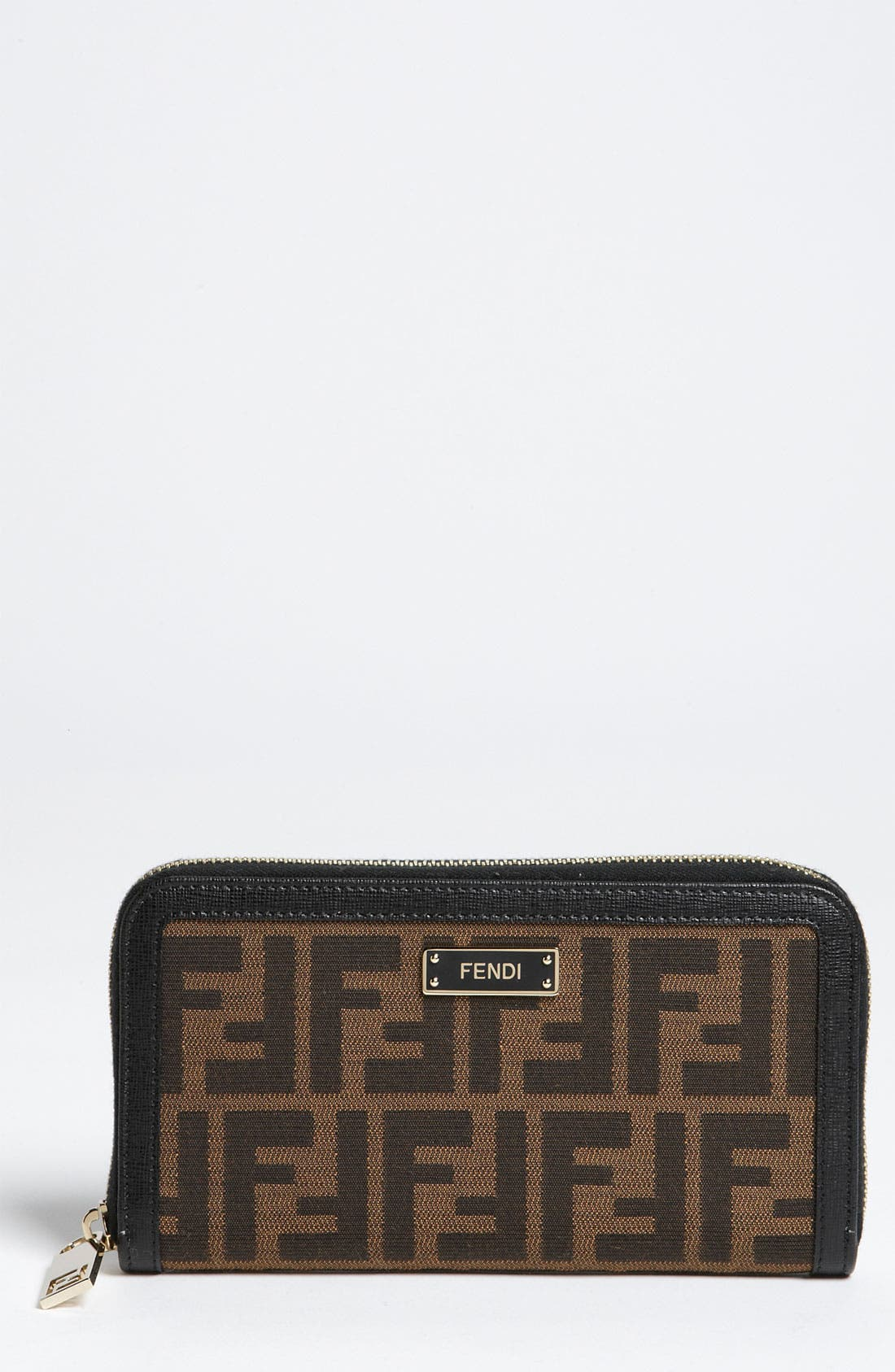 Alternate Image 1 Selected - Fendi 'Zucca - Color' Zip Around Wallet
