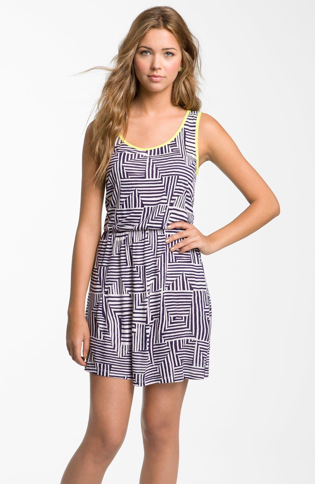 Main Image - Mimi Chica Print Dress (Juniors)