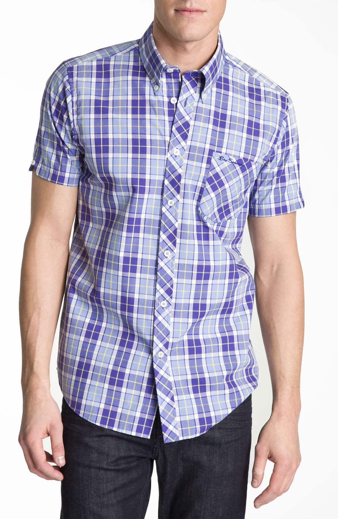 Alternate Image 1 Selected - Ben Sherman 'Covent' Plaid Woven Shirt