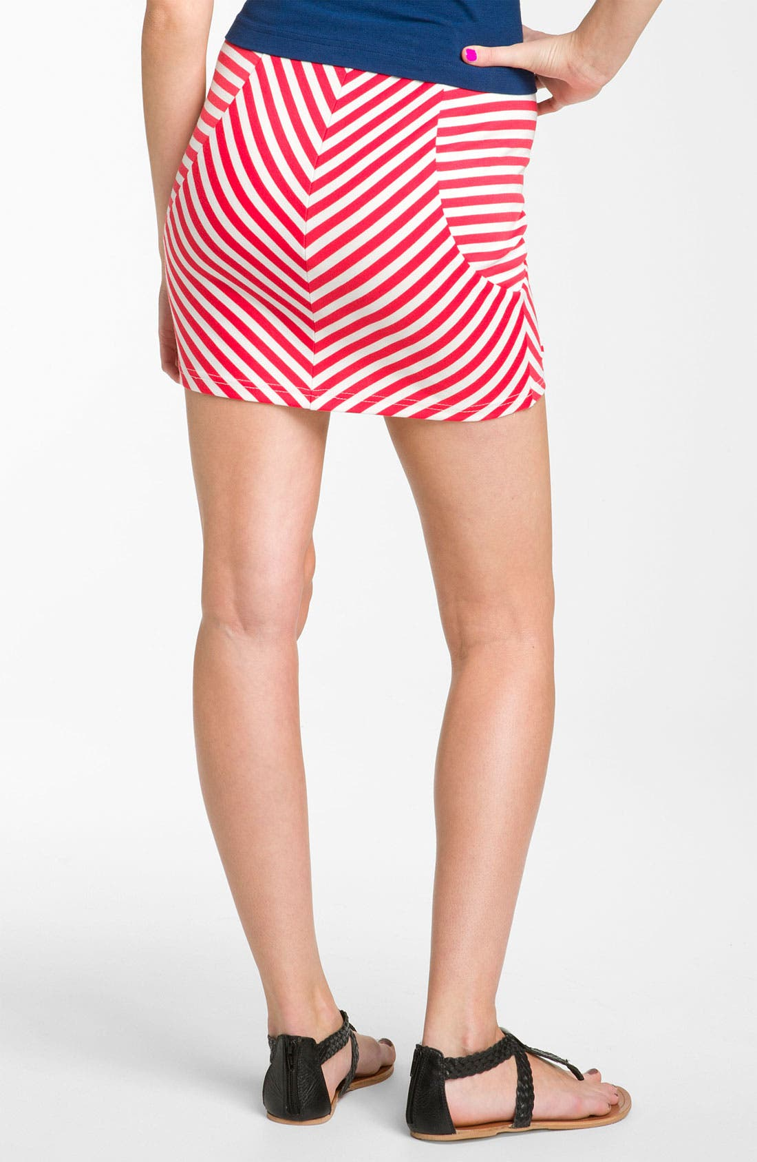 Alternate Image 2  - Necessary Objects Stripe Miniskirt (Juniors)