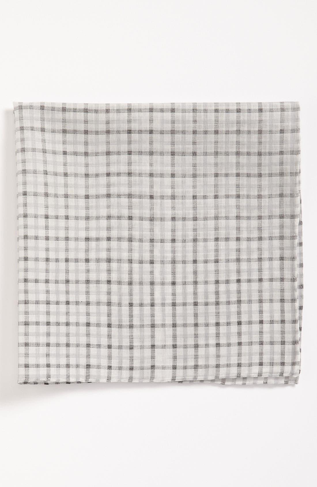 Main Image - Calibrate Windowpane Check Pocket Square