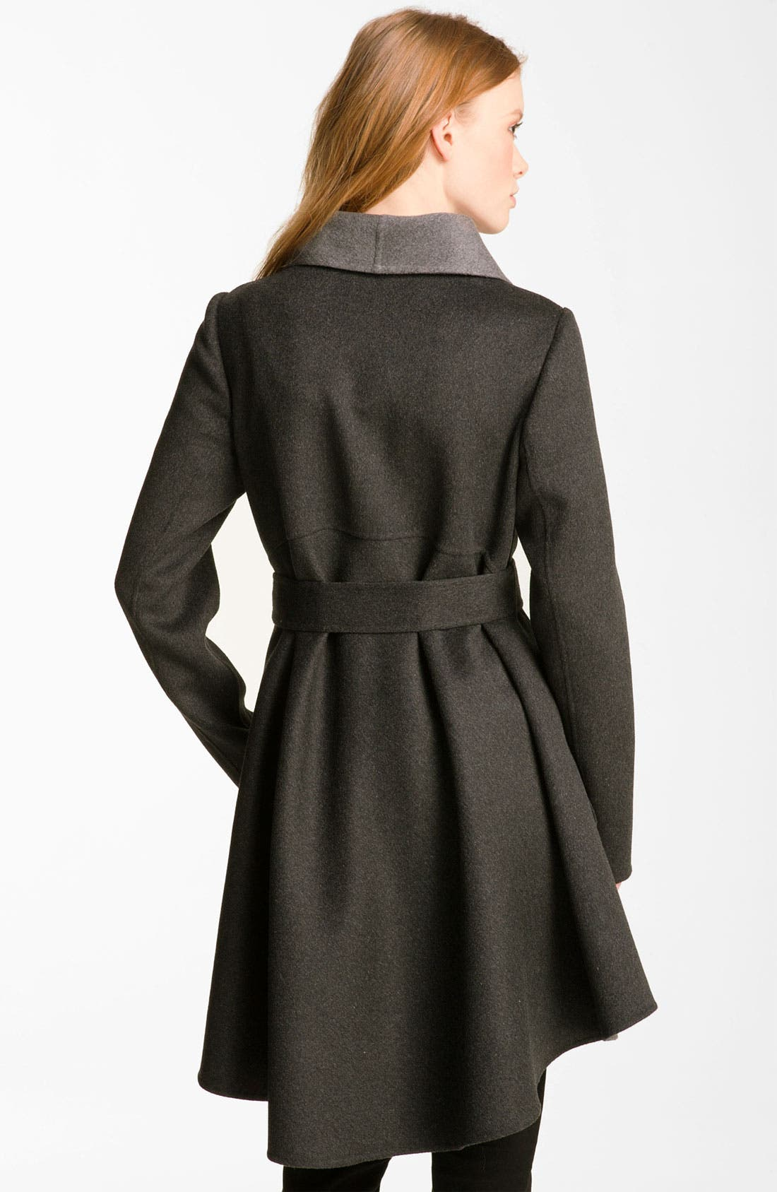 Alternate Image 2  - Dawn Levy Wool & Cashmere Wrap Coat